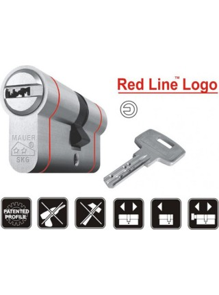 Цилиндр Mauer Logo Red Line 102 (51x51) Ni никель