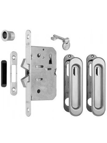 Комплект AGB Scivola TT для раздвежных дверей , мат. хром