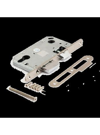 Защелка межкомнатная Apecs 5300-NI (под евроцилиндр),никель