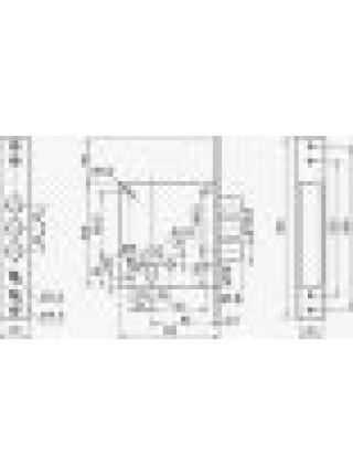 Врезной замок Border ЗВ 1-8Г (87304)