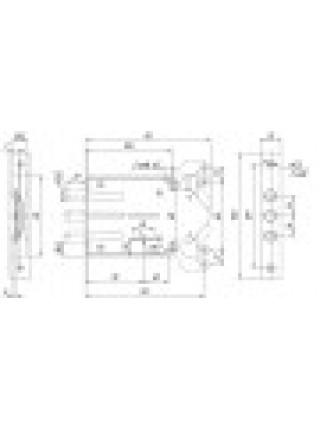 Замки врезные Мэттэм 3В 8 802.1.0 тяги