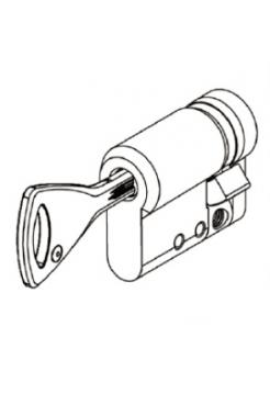 Цилиндр Abloy Protec 2 331N 42,5 (10,5x32) закаленный, матов. хром