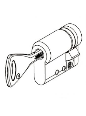 Цилиндр Abloy Protec 2 331N 42,5 (10,5x32) закаленный, хром
