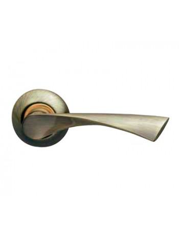Ручка на розетке Armadillo Corona AB/SG-6 бронза/мат.золото